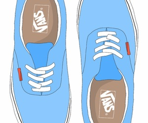 overlay, vans, and blue image