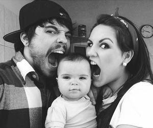 baby, family, and couple image