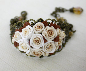 bracelet, jewelry, and rose image