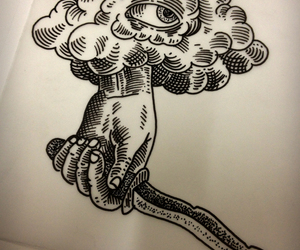 cloud, ink, and knife image