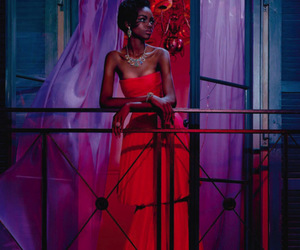 black woman, fashion, and gown image