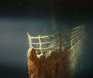 titanic, boat, and sea image