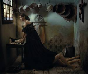 blowjob, nun, and cooking image