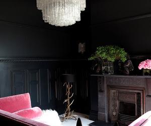 black, interior, and design image