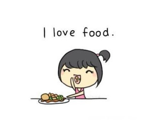 food, love, and girl image