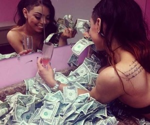 girl, stripper, and money image
