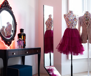 room, pink, and dress image