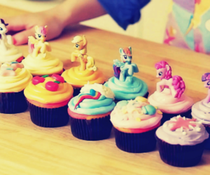cupcakes, food, and my little pony image