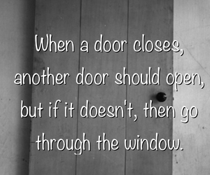 door, obstacles, and quotes image