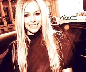 Avril Lavigne and smile image
