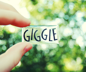 giggle, quote, and photography image