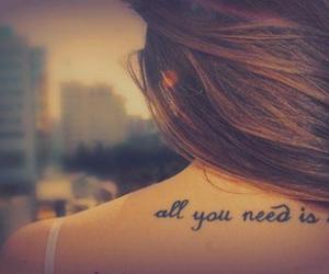 love, tattoo, and need image