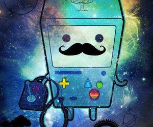 cute, mustache, and adventure time image