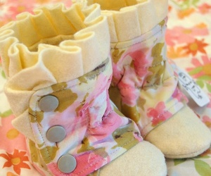 boots, floral, and baby image