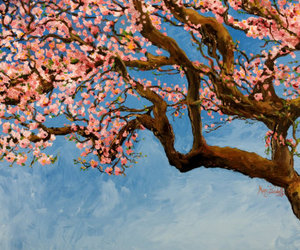 art, japan, and sakura image