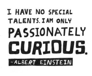 curious, inspiring, and einstein image