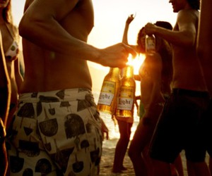 beach, party, and friends image
