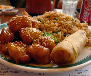 food, rice, and chinese food image