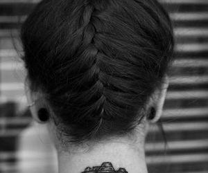 hair, tattoo, and camera image