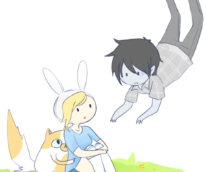 adventure time, marshall lee, and cake image