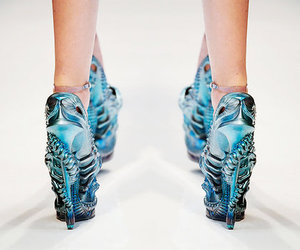 shoes, Alexander McQueen, and blue image
