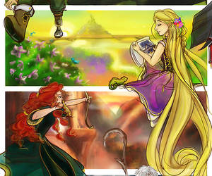 merida, rapunzel, and hiccup image