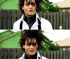 johnny depp, edward scissorhands, and edward image