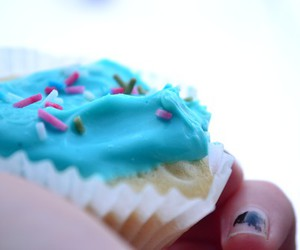 blue, colours, and cupcake image