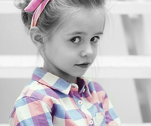 black&white, pink, and sweet image