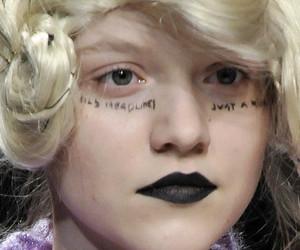 black lipstick, comme des garcons, and braids image