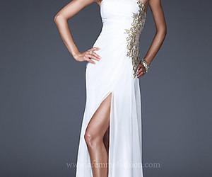 dress, evening dress, and wedding dress image