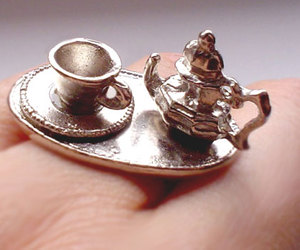 fashion, ring, and teacup image