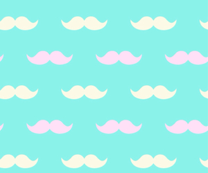 blue, moustache, and pink image