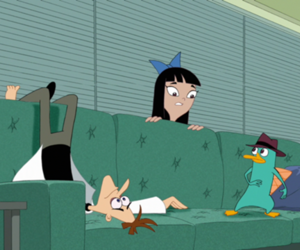 phineas and ferb, perry the platypus, and heinz doofenshmirtz image