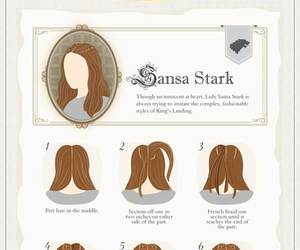 hair, game of thrones, and sansa image