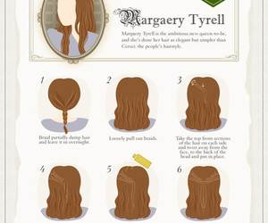 game of thrones, hairstyle, and hair image