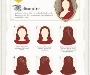 game of thrones, melisandre, and hair image
