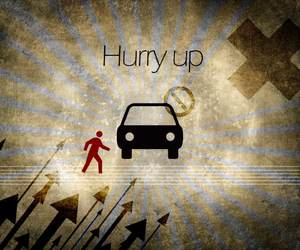 auto, car, and hurry image