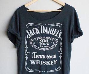 jack daniels, black, and shirt image