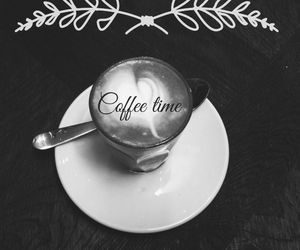 blackandwhite, latte, and pretty image