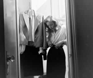 Lauren Bacall, black and white, and photography image