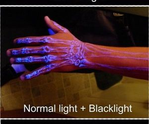 tattoo and blacklight image