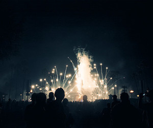fireworks and people image