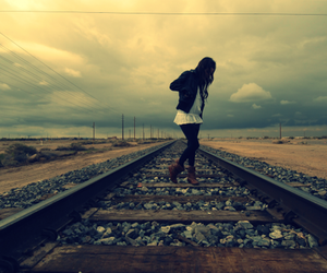 clouds, fashion, and girl image