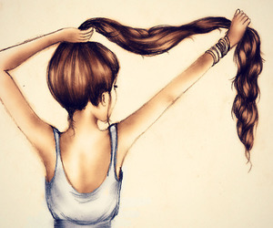 cheveux, dessin, and draw image
