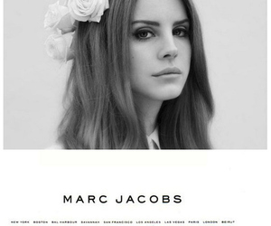 lana del rey, marc jacobs, and black and white image