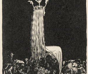 art, John Bauer, and crown image