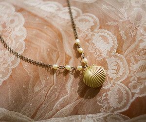 pearls, lace, and necklace image
