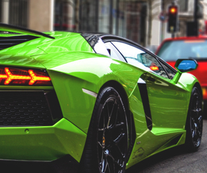 green, car, and luxury image