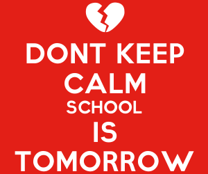keep calm, red, and school image